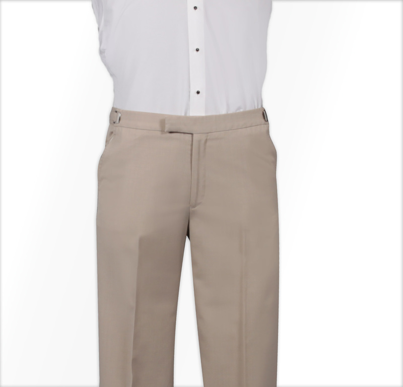 Jean Yves Allure Matching Tan Flat Front Pant