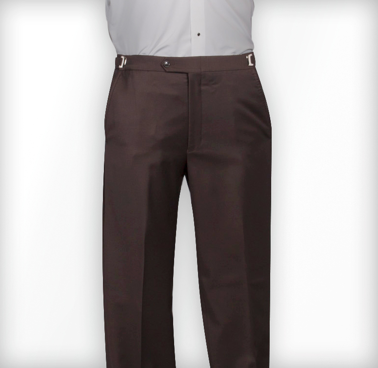 Perry Ellis Matching Brown Flat Front Pants