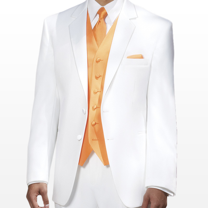 White 2-Button Notch Tuxedo