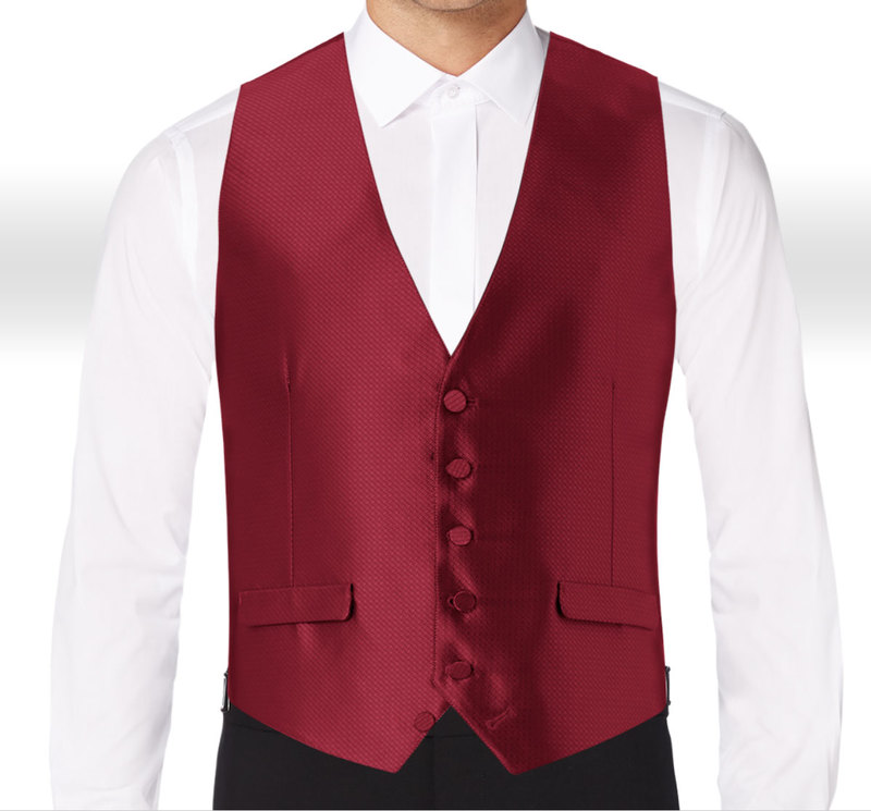 Allure Men Burgundy Vest