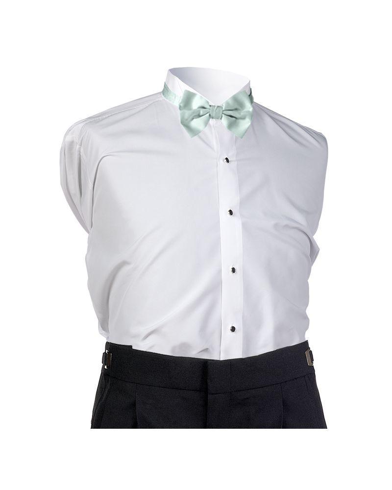 Seafoam Satin Bow Tie